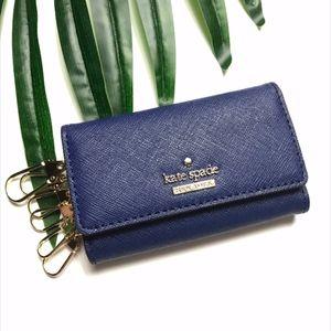 NWOT Kate Spade Blue Saffiano Key Holder Case